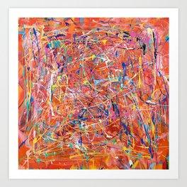 Orange Expression Art Print