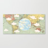 world maps Canvas Prints featuring Off The Maps by Grace M