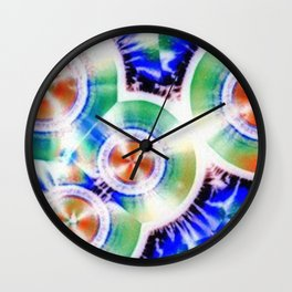 Happy Vitamin C Crystals in Sunlight Wall Clock