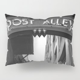 Post Alley in Seattle Washington - Black and White Pillow Sham