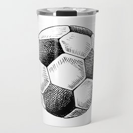 Football ball sketch Travel Mug
