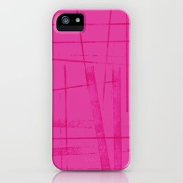 A hot pink mess iPhone Case
