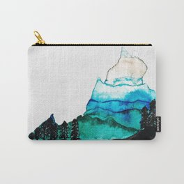 Abstract Blue Ridge Mountains Virginia Watercolor Carry-All Pouch