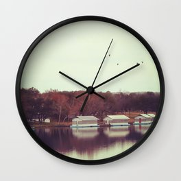 Autumn by the Lake Wall Clock