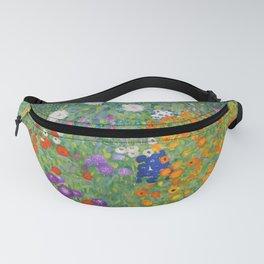 Gustav Klimt Flower Garden Floral Art Nouveau Fanny Pack