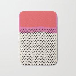 pink abstract mid century modern artwork - illustration - poster art, interior, matisse, picasso, dr Bath Mat