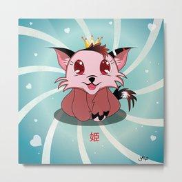 Anime Kitty - Hime Metal Print