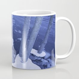 Water And Ice Surround Young Trees Coffee Mug