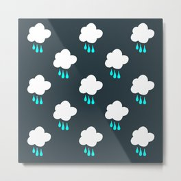 Rain Cloud Pattern Metal Print