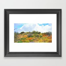 A Path With Many Stories Framed Art Print