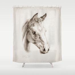 Colt pencil drawing Shower Curtain