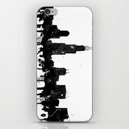 Watercolor Chicago Skyline iPhone Skin