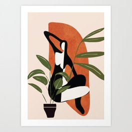 Abstract Female Figure 20 Art Print