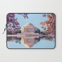 Cherry Blossoms at Jefferson Memorial in Washington DC Laptop Sleeve