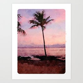 Dawn Palm, Big Island, Hawaii Art Print