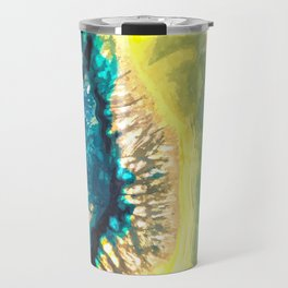 Blue and Yellow Agate Travel Mug