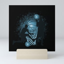 Slam Dunk Basketball Mini Art Print