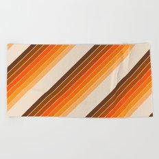 Tan Candy Stripe Beach Towel
