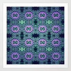 Purple & Teal Lace Art Print
