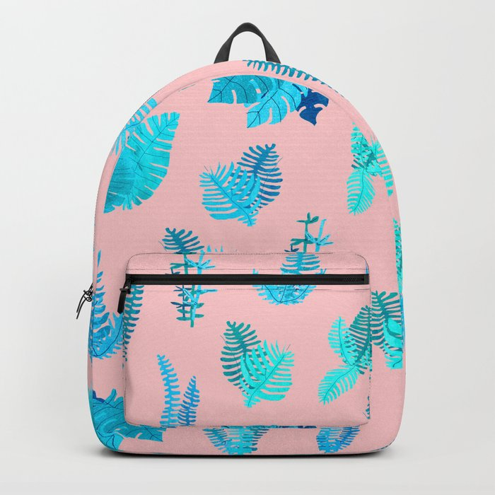 blue and pink nature Backpack