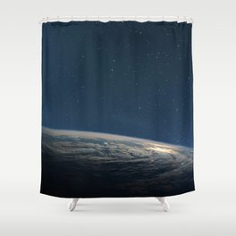 Planet earth from the space at night Shower Curtain