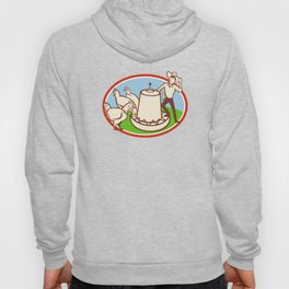 Chicken Farmer Feeder Cartoon Hoody