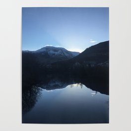Evening reflection over the Loch Poster
