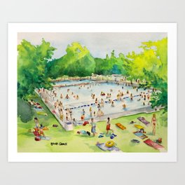 Deep Eddy Pool - Austin, Texas Art Print