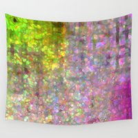 stained glass Wall Tapestries featuring Stained Glass by Audrey Erickson