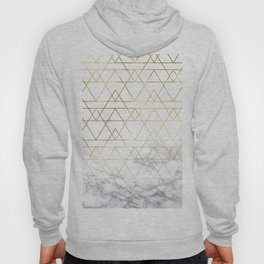 Gold Geometric Marble Deco Design Hoody