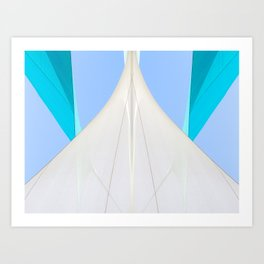 Abstract Sailcloth c2 Art Print