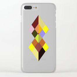 Abstract #727 Clear iPhone Case