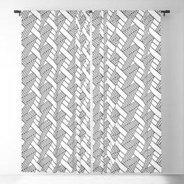 Diagonal Modern Weave Blackout Curtain