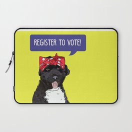 Political Pup - Regiser to Vote Laptop Sleeve
