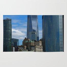 Manhattan View From Hudson River Rug