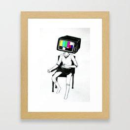 TV JUNKIE Framed Art Print