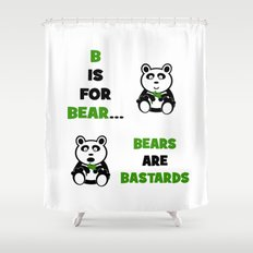 B is For Bear Shower Curtain