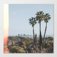 los angeles Canvas Prints featuring Los Angeles by Luke Gram