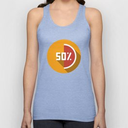 """Illustration """"percentage - 50%"""" with long shadow in new modern flat design Unisex Tank Top"""