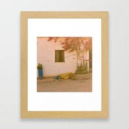 Moroccan Window Framed Art Print
