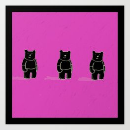 Cute! Bears, bears, bears! Art Print