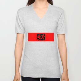 Wheelchair Disabled Exit Sign, with Accessible Means of Egress Icon Unisex V-Neck