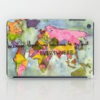 wanderlust iPad Cases featuring wanderlust by Eliza L