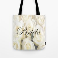bride Tote Bags featuring Bride by AE Interiors