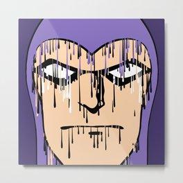 Rain, the nemesis of a comic book hero - Phantom Metal Print
