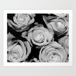 Roses (Black and White) #4 Art Print