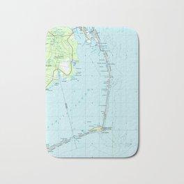 Vintage Southern Outer Banks Map (1957) Bath Mat