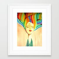 grace Framed Art Prints featuring grace by sylvie demers