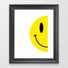 Half Smile (Right) Framed Art Print