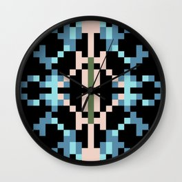 Southwest Night Pixel Paradise Wall Clock
